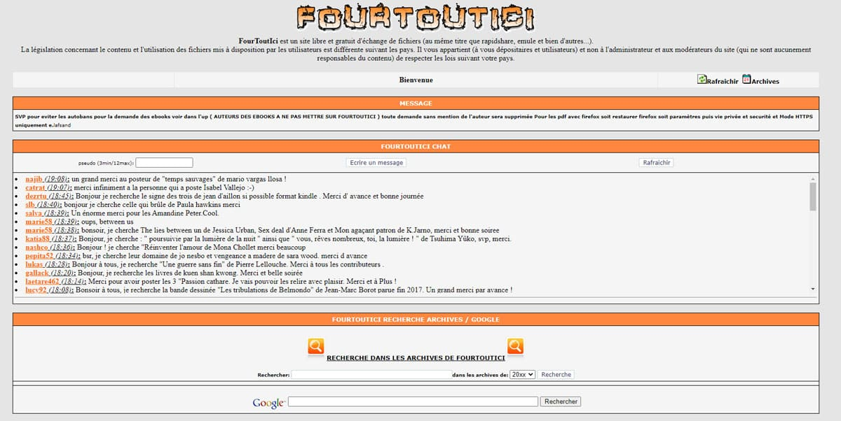 page accueil fourtouici